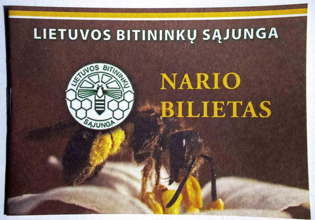 bitininkų nario bilietas