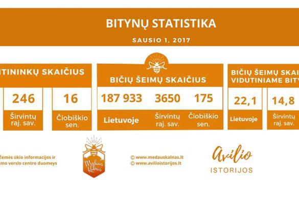 2017 bytynų statistika Medaus kalnas
